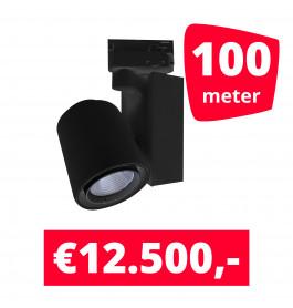 LED Railverlichting Ledimo 5 Zwart 100 spots + 100M rails