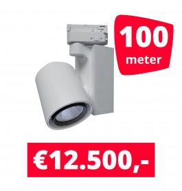 LED Railverlichting Ledimo 5 Wit 100 spots + 100M rails