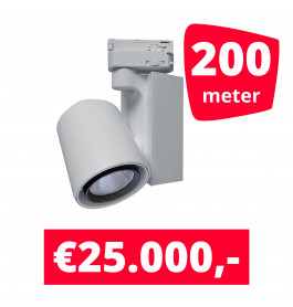 LED Railverlichting Ledimo 5 Wit 200 spots + 200M rails