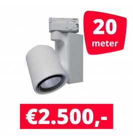 LED Railverlichting Ledimo 5 Wit 20 spots + 20M rails