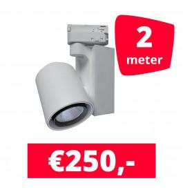 LED Railverlichting Ledimo 5 Wit 2 spots + 2M rails