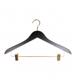 Hanger black Helena 44 cm Gold hook/clips