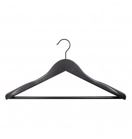 Hanger black Mila with bar 44 cm