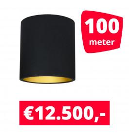 LED Railverlichting Lipari Zwart 100 spots + 100M rails