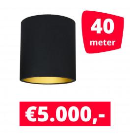 LED Railverlichting Lipari Zwart 40 spots + 40M rails