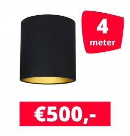 LED Railverlichting Lipari Zwart 4 spots + 4M rails