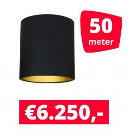 LED Railverlichting Lipari Zwart 50 spots + 50M rails