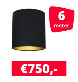LED Railverlichting Lipari Zwart 6 spots + 6M rails