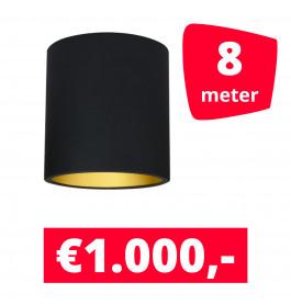 LED Railverlichting Lipari Zwart 8 spots + 8M rails