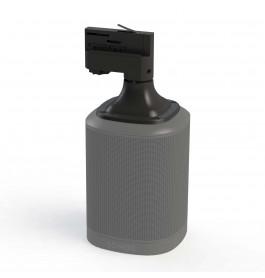 Pontis 3-faserail audio adapter in zwart