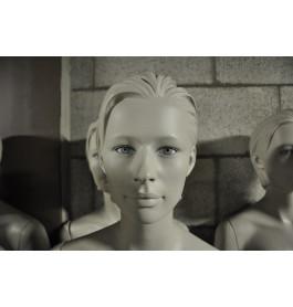 grijze gestyleerde abstracte dames mannequin met glazen ogen nwpr was 1000 euro!