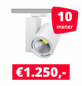 LED Railverlichting Mercato Wit 10 spots + 10M rails