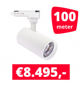 LED Railverlichting Meteora S Wit 100 spots + 100M rails