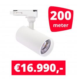 LED Railverlichting Meteora S Wit 200 spots + 200M rails