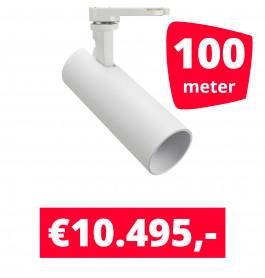 LED Railverlichting Meteora Wit 100 spots + 100M rails