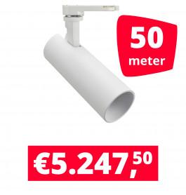 LED Railverlichting Meteora Wit 50 spots + 50M rails