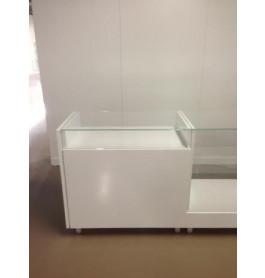 toonbank met vitrineglas 100 cm breed glastop C-PHR-002
