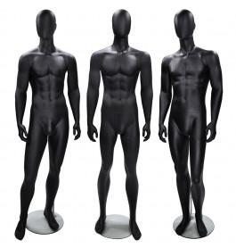 3x Faceless etalagepop heer merk gruppo corso mix zwart
