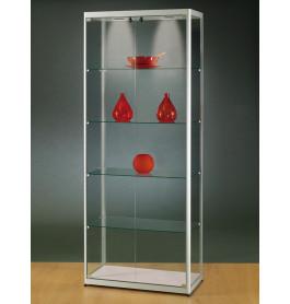 Luxe vitrinekast aluminium 80 cm speciale uitvoering