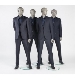 grijze heren mannequins met glazen ogen nwpr was 995 euro