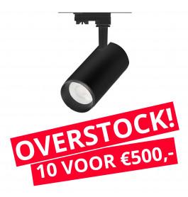 LED Railverlichting Cayena Zwart 10 STUKS!