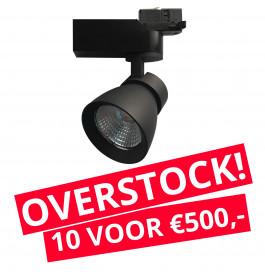 LED Railverlichting Rocket Zwart 10 STUKS!