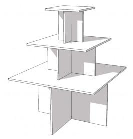Glossy witte piramide tafel
