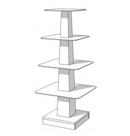Glossy witte piramide tafel 160 cm