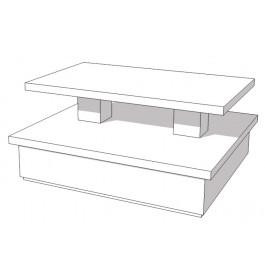 Glossy witte piramide tafel 150 x 135 x 70 cm