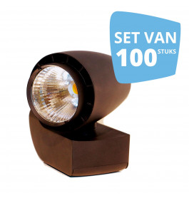 100 x LED spot Vento Philips zwart
