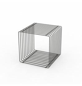 Staaldraad podium zwart vierkant 40 cm
