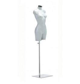 Italiaanse dames torso's in wit op zware chromen poot