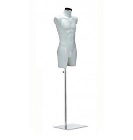 Italiaanse heren torso's in wit op zware chromen poot