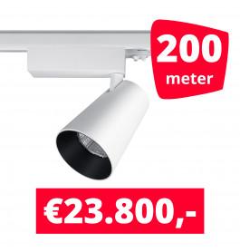 LED Railverlichting Proo 25W Wit 200 spots + 200M rails