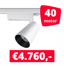LED Railverlichting Proo 25W Wit 40 spots + 40M rails
