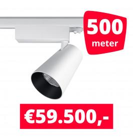LED Railverlichting Proo 25W Wit 500 spots + 500M rails