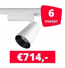 LED Railverlichting Proo 25W Wit 6 spots + 6M rails