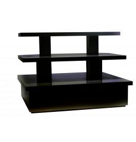 Zware piramide tafel groot mat zwart