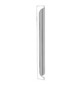 Element voor kast zijkant links glossy wit R-EC-001-C
