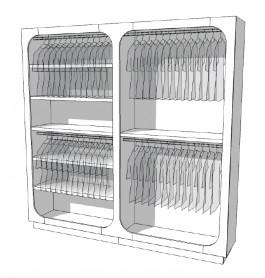 Strakke design kast glossy wit R-EC-001-COMP