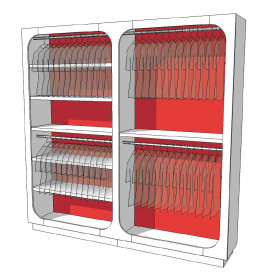 Strakke design kast glossy duotone R-EC-002-COMP