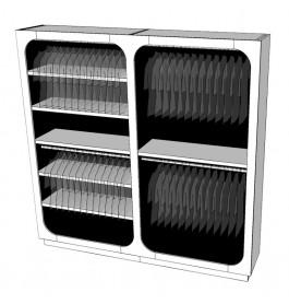 Strakke design kast glossy duotone R-EC-002-COMP zwart