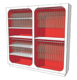 Strakke design kast glossy duotone R-EC-003-COMP