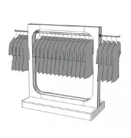 Glossy middenunit kledingrek R-EC-004
