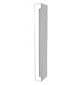 Element voor kast zijkant links glossy wit R-PR-001-C