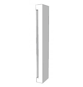 Element voor kast zijkant rechts glossy wit R-PR-001-D