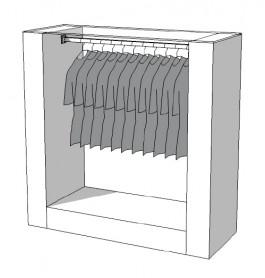 Glossy middenunit kledingrek R-PR-005