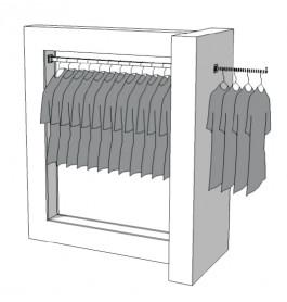 Glossy middenunit kledingrek R-PR-007