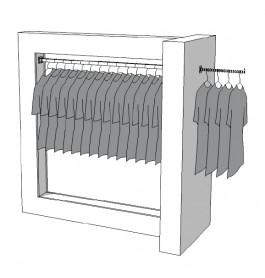Glossy middenunit kledingrek R-PR-008