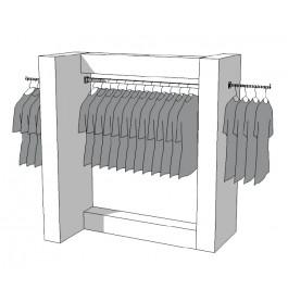 Glossy middenunit kledingrek R-PR-010